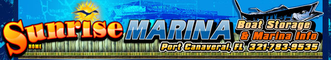 Welcome to Sunrise marina at Port Canaveral