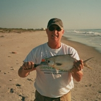 Nice Pompano courtesy of J&H Surf Fishing
