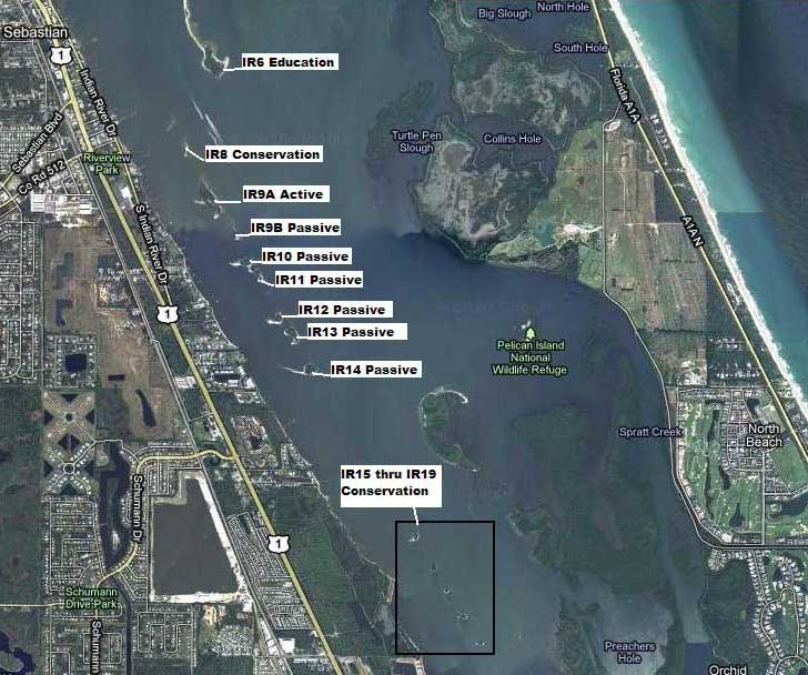 Indian River Lagoon Spoil Island Map